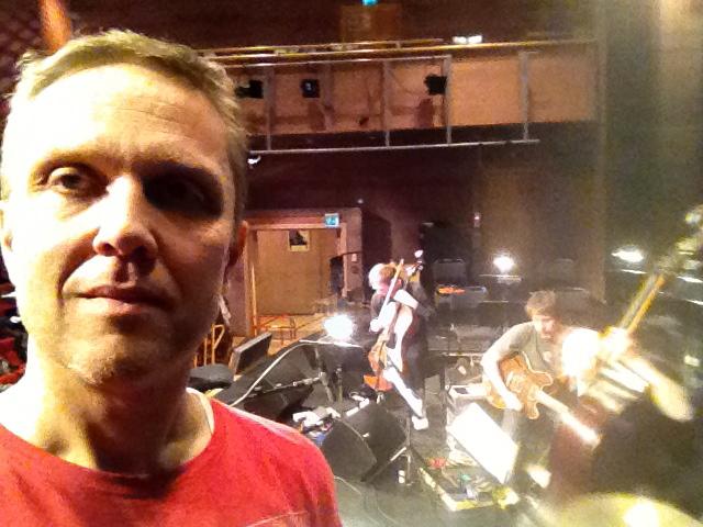 Jag med Krister och Dan i bakgrunden